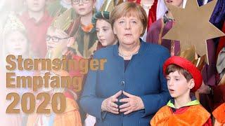 Unsere Sternsinger bei Merkel und Steinmeier