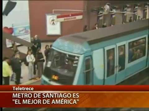 Metro de Santiago fue elegido el mejor de América - CANAL 13 2012