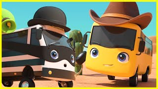 Cowboy Buster | Go Buster | Baby Cartoons | Kids Videos | ABCs and 123s