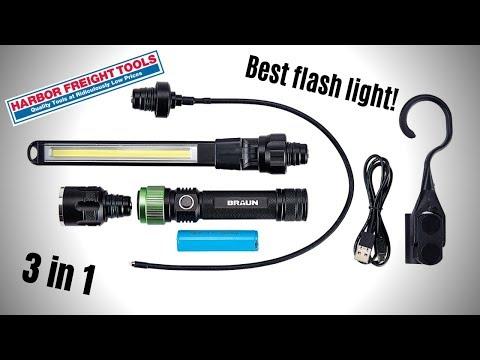 Braun flash light review form Harbor Fright Tools