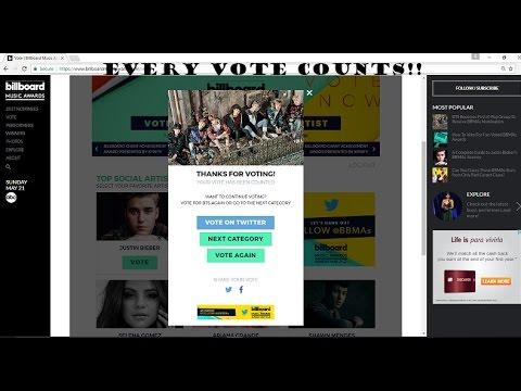 BTS, TwentyOnePilots, Weeknd, And more for Billboard VOTE!!!