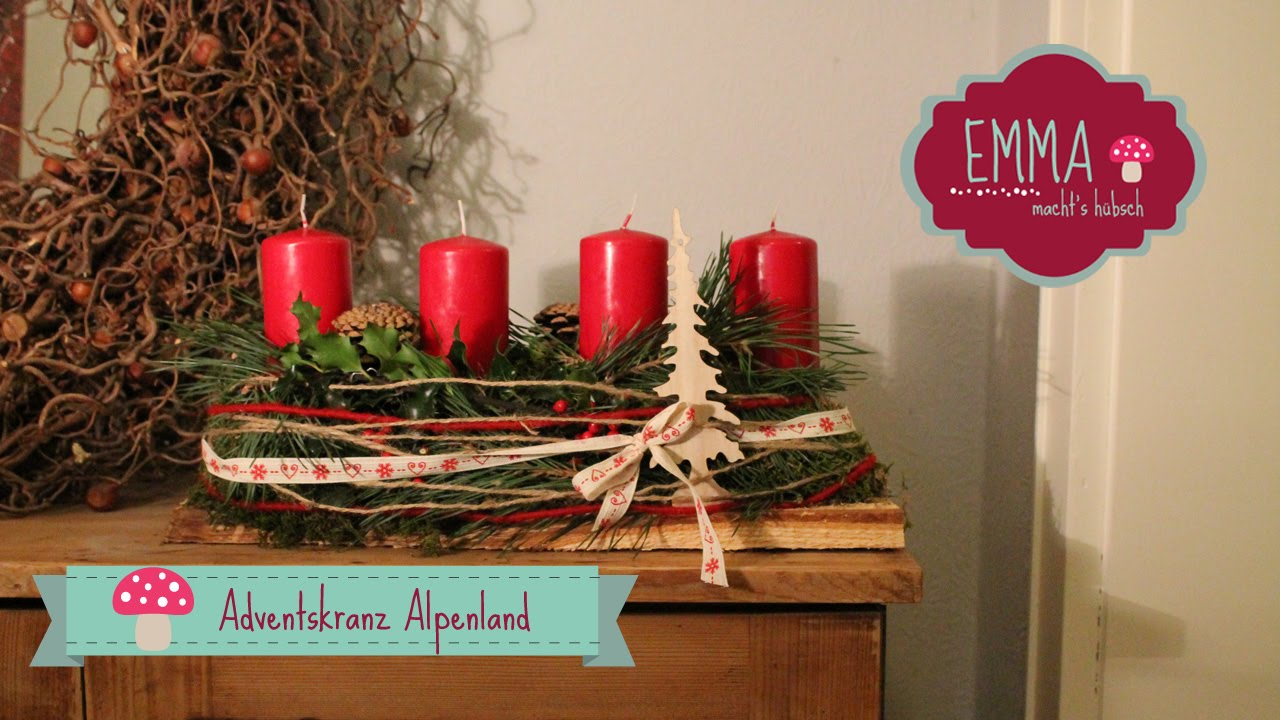 Adventskranz alpenland youtube for Adventskranz selber machen youtube