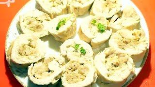 Куриный рулет в духовке домашний нежный и вкусный видео рецепт