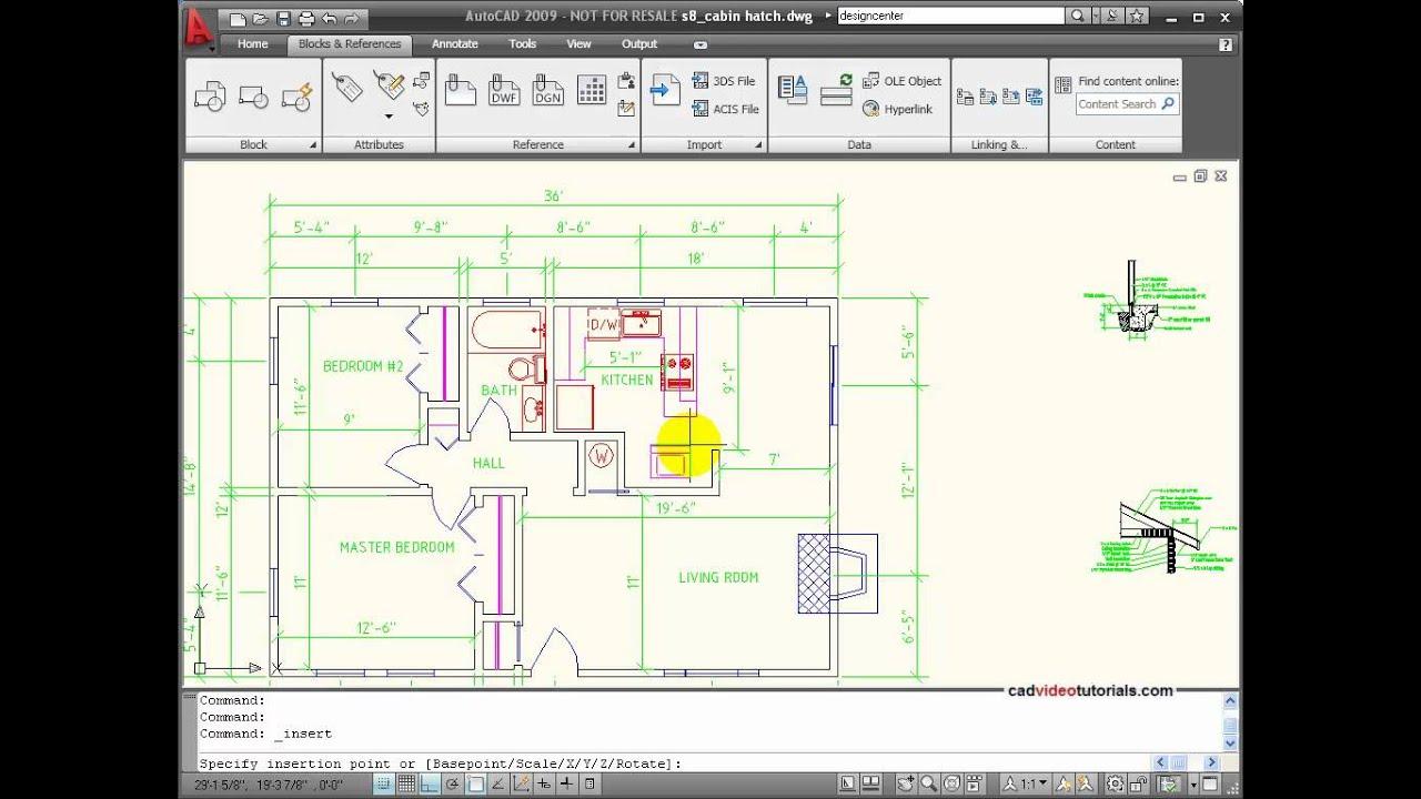 hight resolution of autocad tutorial inserting blocks and symbols