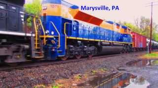 NS JERSEY CENTRAL LINES, HERITAGE UNIT,  MARYSVILLE PA