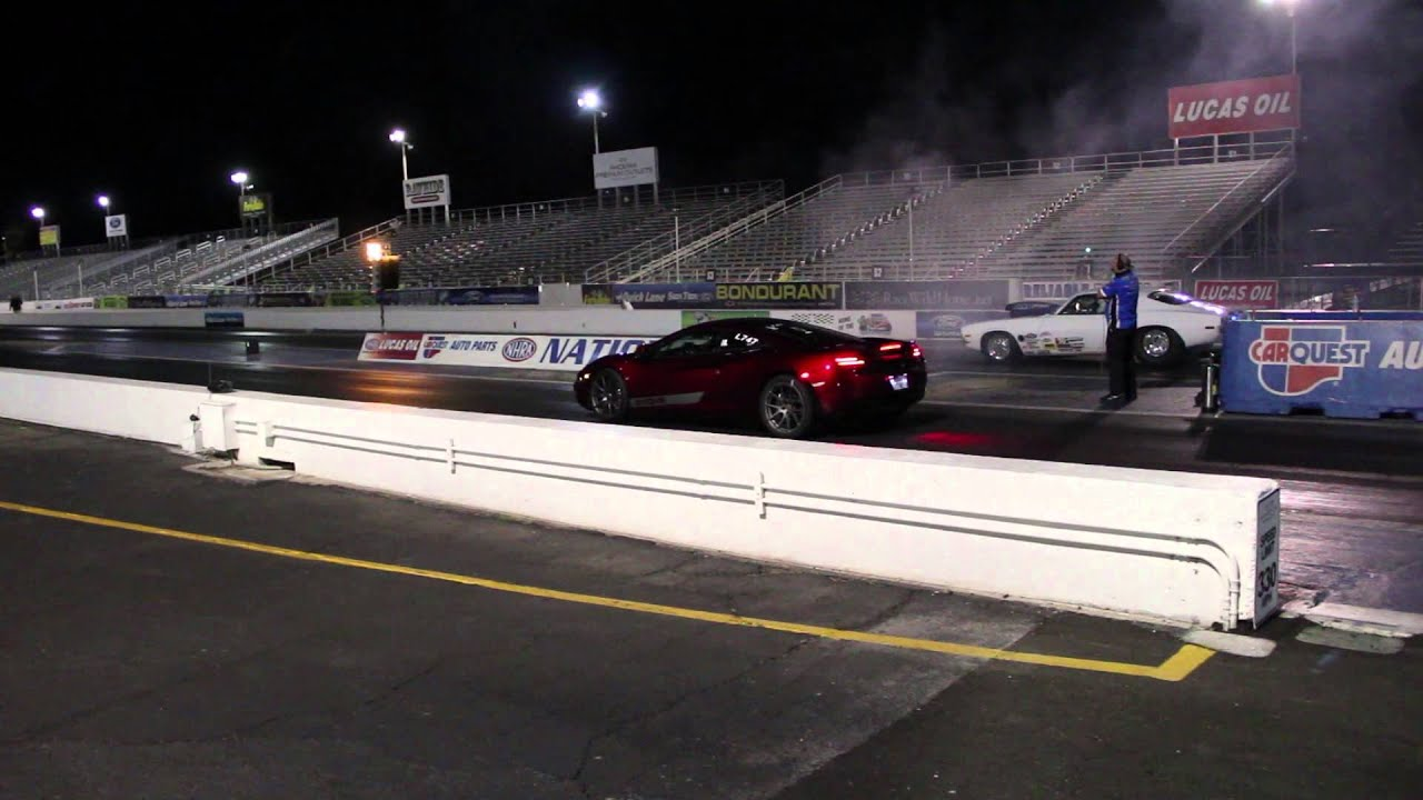 EVOMS Built McLaren MP4 12C 9 Second 1/4 Mile Pass EVT825 Evolution Motorsports Drag Race Record