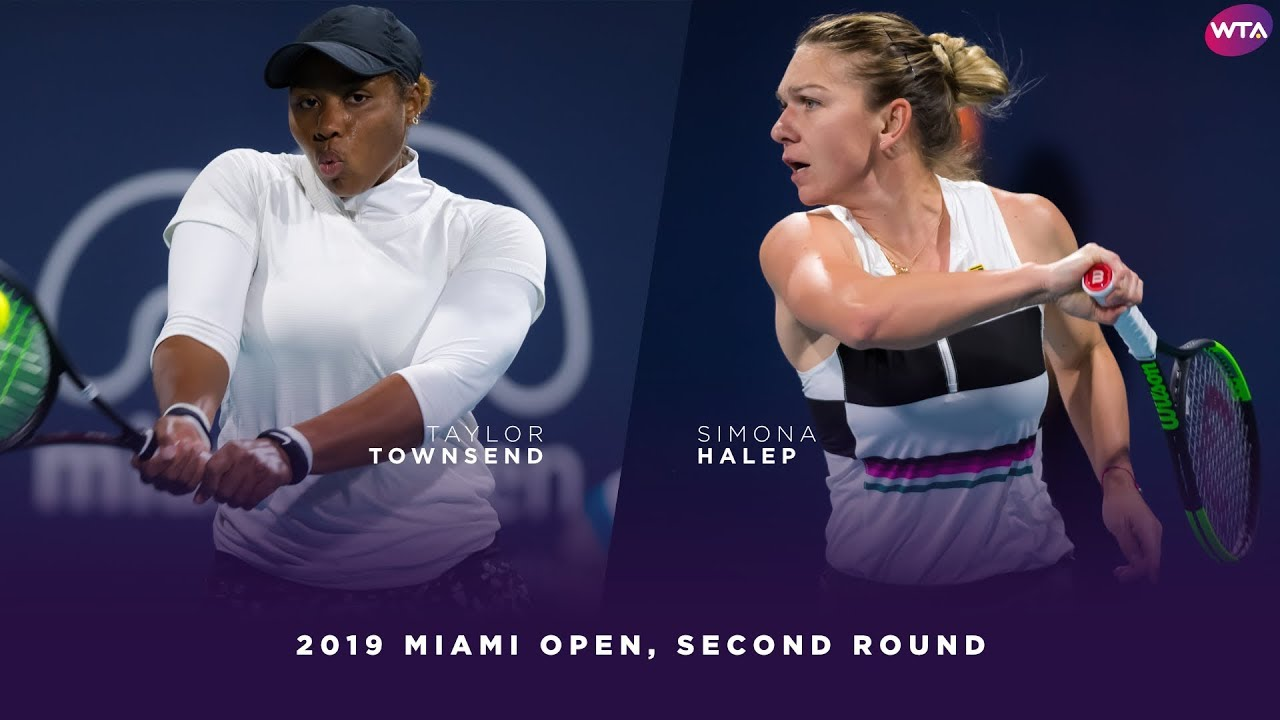 Taylor Townsend vs. Simona Halep | 2019 Miami Open Second Round | WTA Highlights