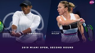 Taylor Townsend vs. Simona Halep | 2019 Miami Open Second Round | WTA Highlights thumbnail