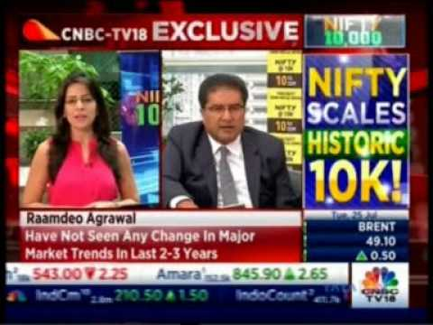 Mr. Raamdeo Agrawal in conversation with CNBC TV18 on Niftyat10K