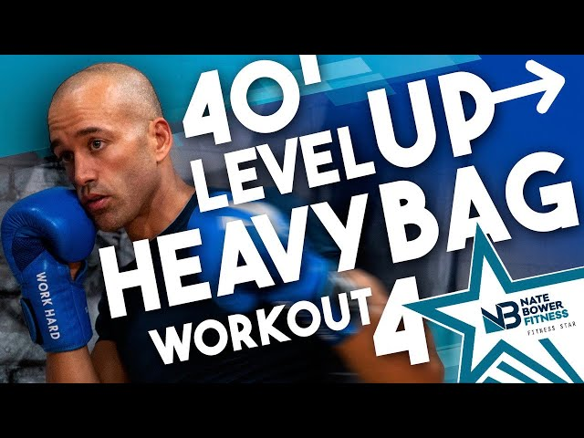 40 Minute // Level Up Boxing // Heavy Bag Workout 4 // NateBowerFitness