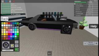 How To Create A Muscle Car! ROBLOX (Street Racing Unleashed (Beta 1.2.3) By SecondLogic)