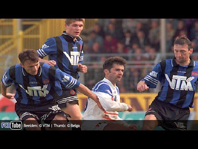 1995-1996 - Jupiler Pro League - 11. Club Brugge - AA Gent 3-0