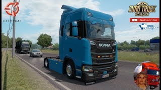 """Euro Truck Simulator 2 (1.36)   Low deck chassis addon for Eugene Scania NG by Sogard3 v1.3 and Next Generation Scania P G R S v2.0 + DLC's & Mods https://forum.scssoft.com/viewtopic.php?f=35&t=274535 https://forum.scssoft.com/viewtopic.php?f=35&t=247941  Support me please thanks Support me economically at the mail vanelli.isabella@gmail.com  Roadhunter Trailers Heavy Cargo  http://roadhunter-z3d.de.tl/ SCS Software Merchandise E-Shop https://eshop.scssoft.com/  Euro Truck Simulator 2 http://store.steampowered.com/app/227... SCS software blog  http://blog.scssoft.com/  Specifiche hardware del mio PC: Intel I5 6600k 3,5ghz Dissipatore Cooler Master RR-TX3E  16GB DDR4 Memoria Kingston hyperX Fury MSI gtx 970 Twin Frozr Gaming 4gb ddr5 Asus Maximus VIII Ranger Gaming Cooler master Gx750 SanDisk SSD PLUS 240GB  HDD WD Blue 3.5"""" 64mb SATA III 1TB Corsair Mid Tower Atx Carbide Spec-03 Xbox 360 Controller Windows 10 pro 64bit"""