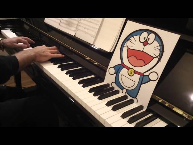 Doraemon Theme Song - Doraemon no Uta, for Piano Solo「ドラえもんのうた」ピアノ