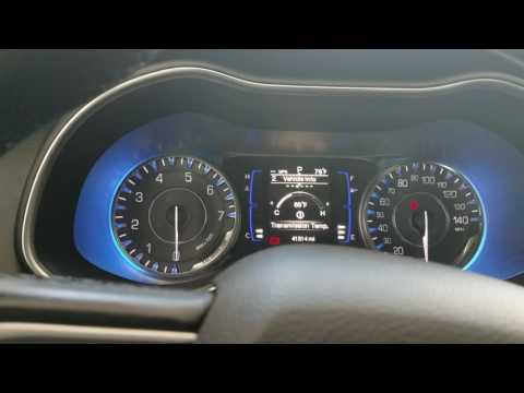 2015 - 2018 Chrysler 200 Oil Life Reset / Service Reset