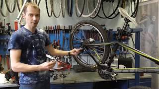 рассмотрение технологии переключения передач велосипеда Shimano shadow