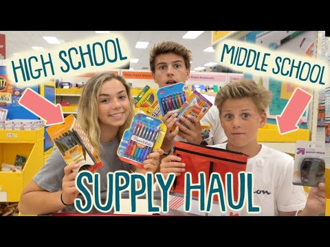 Back to School Supply Shopping Haul | Middle and High School 2019