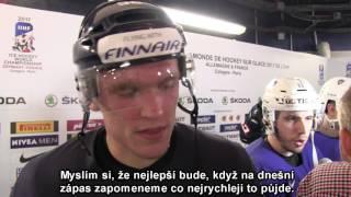 Mikko Rantanen po zápase Finsko – Francie 1:5