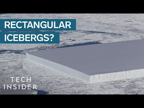 How Are Perfectly Rectangular Icebergs Formed?