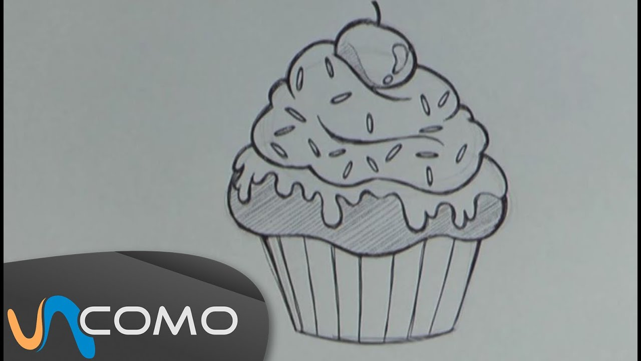 Dibujar muffin o cupcake - YouTube