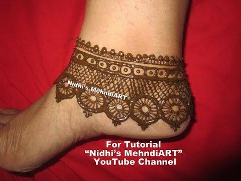 Diy Bridal Anklet Jewellery Inspired Feet Henna Mehndi Design