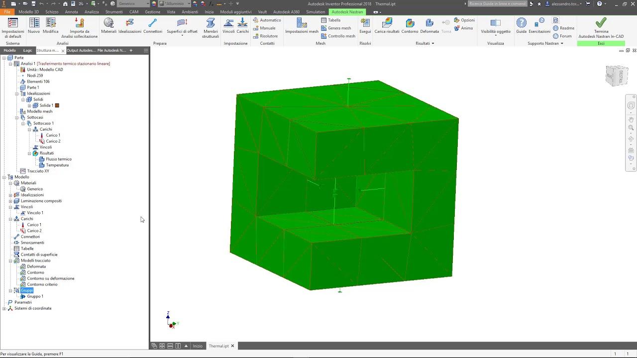 autodesk nastran in cad plottig heat flux result for all elements rh youtube com Trabajos Manuales Gratis Manual ES Allen