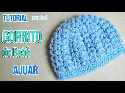 c61fe4c51 DIY Gorrito de bebé punto puff