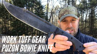 Work Tuff Gear Puzon Wilderness Bowie Knife Review: Survival MONSTER with a Classic Look