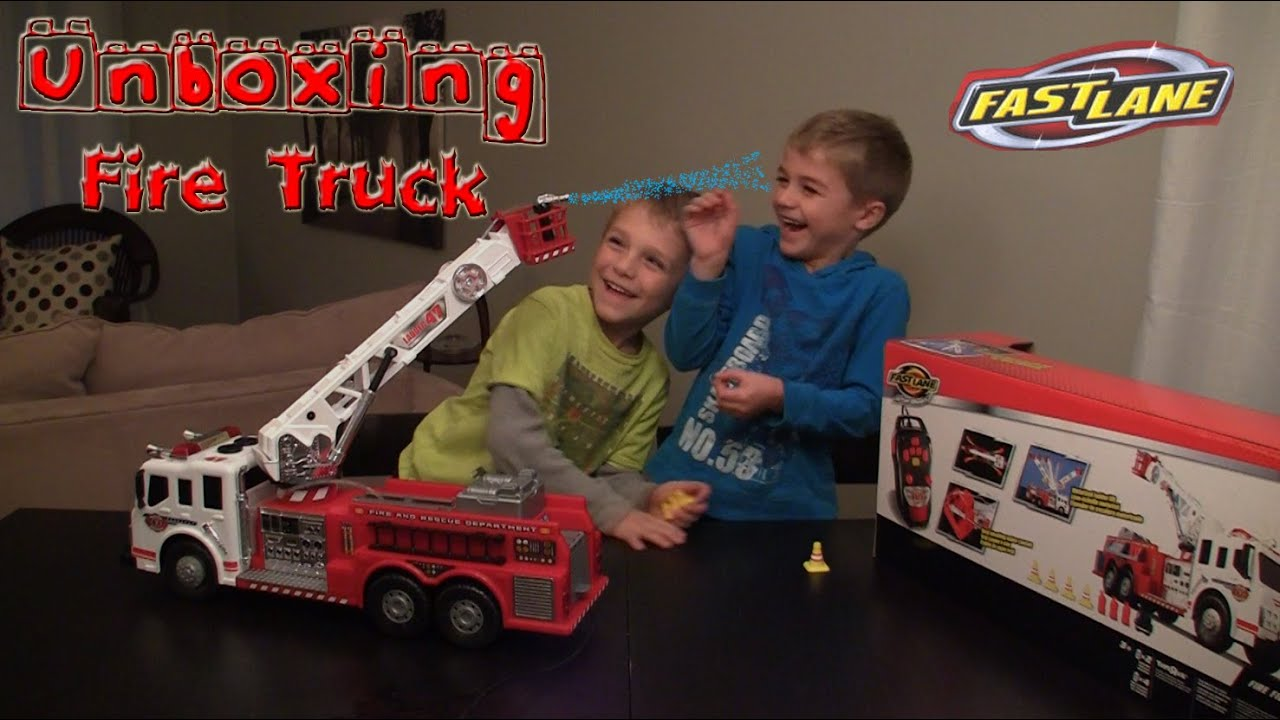 Unboxing of Fast Lane RC Fire Fighter Truck Toy  sc 1 st  YouTube & Unboxing of Fast Lane RC Fire Fighter Truck Toy
