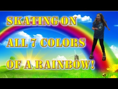 skating on all 7 colors of the rainbow at rainbow rink - All The Colors Of The Rainbow Song
