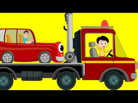 Tow Truck Song | Transport Song Car | Nursery Rhymes For Kids | kids tv cartoon videos