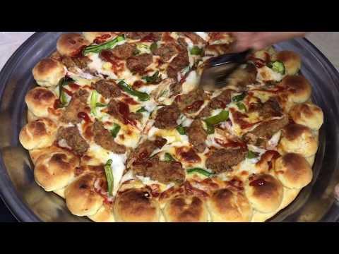 صورة  طريقة عمل البيتزا طريقة عمل بيتزا الفراخ الكرسبي الخطيرة احسن من المحلات و المطاعم ... جربوا الوصفة و هتدعولي طريقة عمل البيتزا من يوتيوب