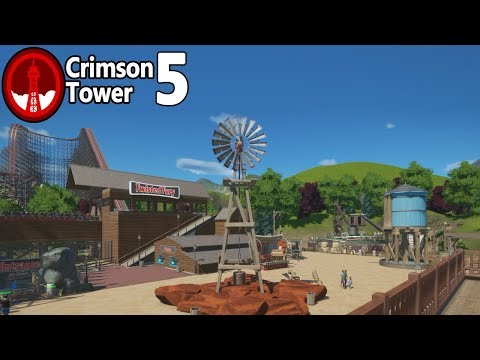 Planet Coaster - Crimson Tower (Part 5) -  A Wild and Western Area!