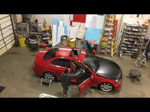 2012 Mercedes C300 - Wrap By Action Signs - Omaha, Nebraska