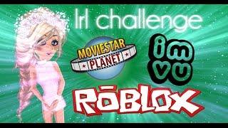 IRL CHALLENGE ON MSP, ROBLOX, AND IMVU!