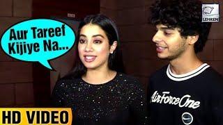 Janhvi Kapoor FLIRTS With A Reporter At Dhadak Success Party!   LehrenTV