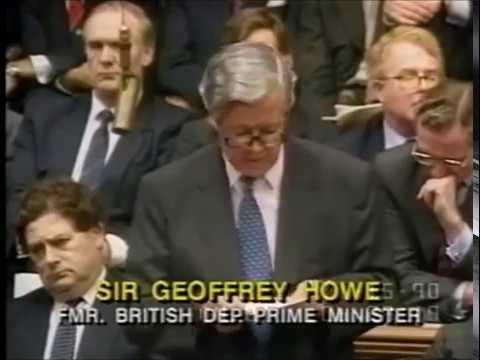 Geoffrey Howe Resignation Statement