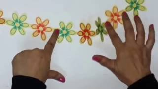 Easy Paper Cutting technique to create Flower Chain