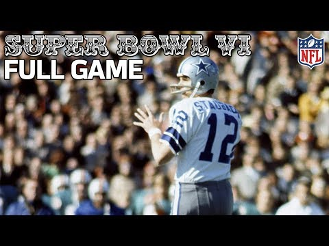 Cowboys Win Their First Super Bowl!   Cowboys vs. Dolphins Super Bowl VI   NFL Full Game