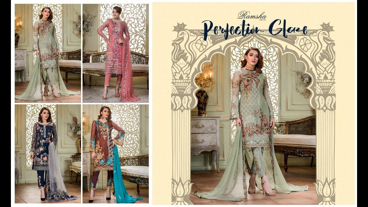 5a9b9b55a3 Ramsha New Casual Embroidered Chiffon Winter Collection 2018-19 ...