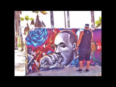ART WALLS FAMOUS FACES VENICE BEACH CALIFORNIA JUNE 1, 2014