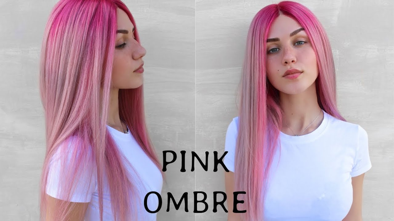 How To Bright Pink To Pastel Ombre Hair Colour Stella Youtube