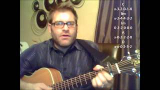 "How to play ""Rockin Around The Christmas Tree"" by Brenda Lee on acoustic guitar"