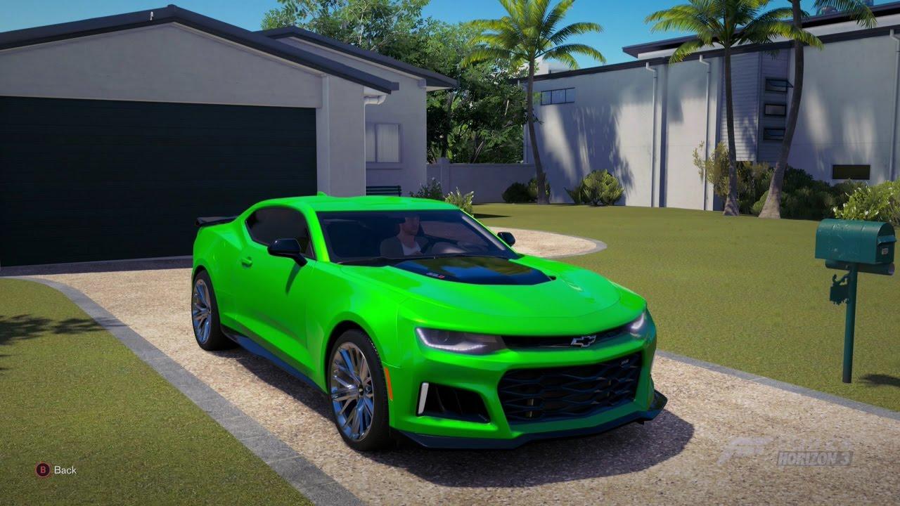 Forza Horizon 3 2017 Chevrolet Camaro Zl1 Youtube