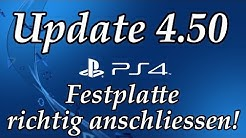 PS4 Festplatte Richtig Anschließen!! Tutorial - USB 3.0 -Formatieren ! PS4 Update 4.50