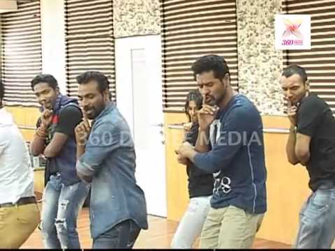 Remo D'Souza and Prabhu Deva rehearse with other dancers for a song from 'ABCD'
