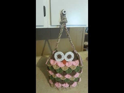 How To Crochet An Owl Purse | Bagoday Crochet | Tutorial #74