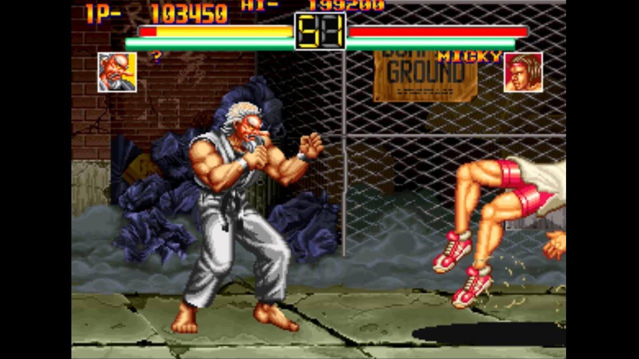 18 art of fighting 1 boss hack 1 2 mr karate playthrough youtube. Black Bedroom Furniture Sets. Home Design Ideas