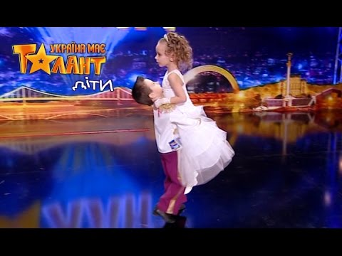 The wedding dancing of a young couple on the show Ukraine's Got Talent.