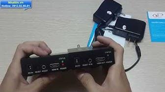 Giới thiệu Thiết bị khuếch đại HDMI Extender lên đến 150m bằng cáp mạng CAT5E/6 FJ Chính hãng